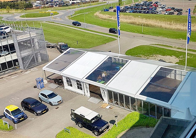 transparante tent 15 meter
