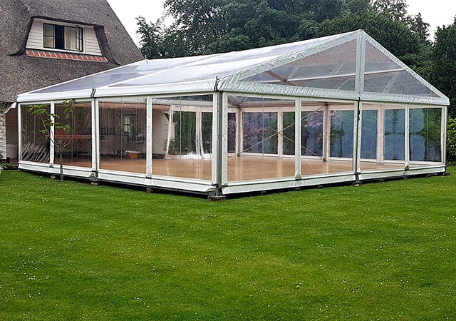 transparante tent 8 meter